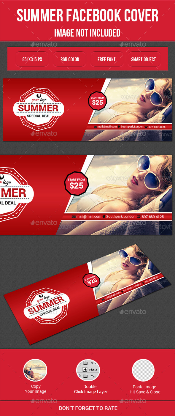 GraphicRiver Summer Sale Facebook Cover Two 11848216