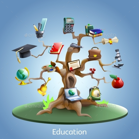 GraphicRiver Education Tree Concept 11848222