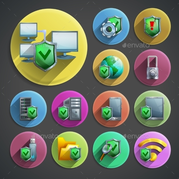 GraphicRiver Data Protection Icons Set 11848227