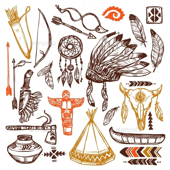 GraphicRiver Native Americans Set 11848272