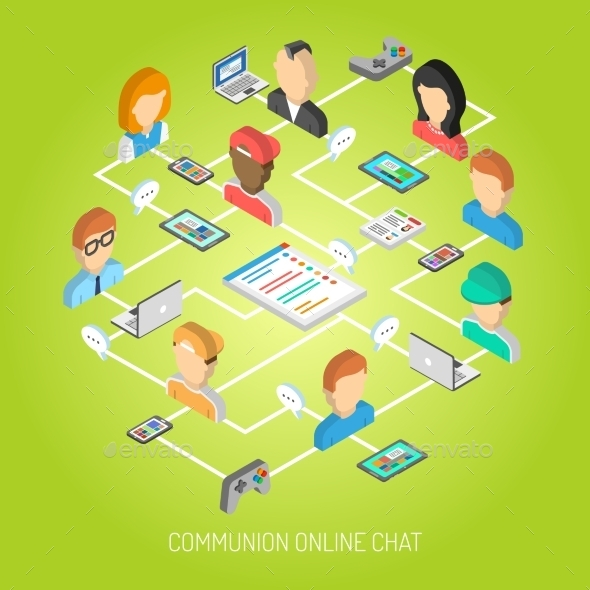GraphicRiver Internet Chat Concept 11848498