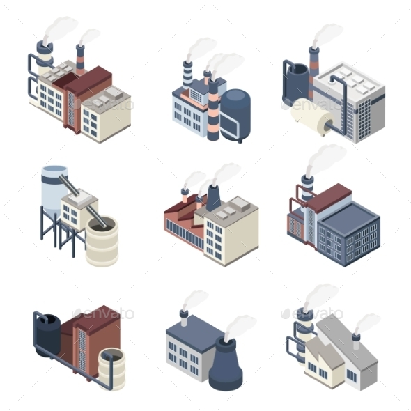GraphicRiver Building Industry Isometric 11848505