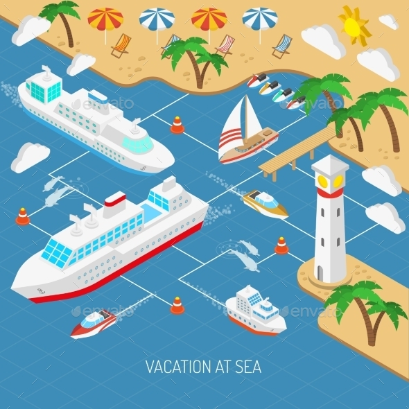 GraphicRiver Sea Vacation and Ships Concept 11848538