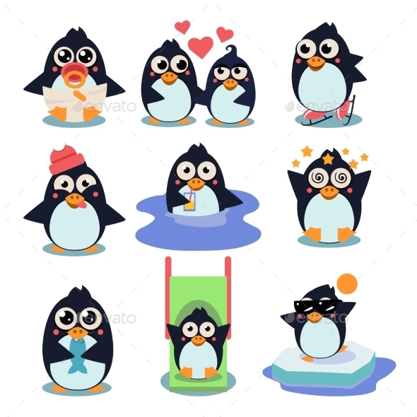 GraphicRiver Penguin Set 11848639