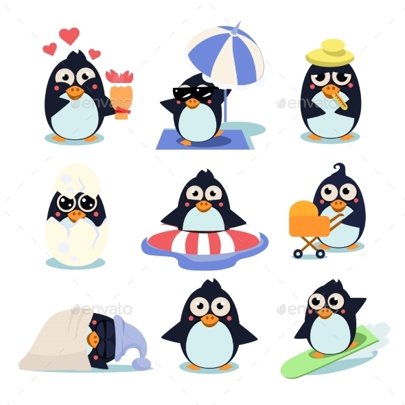 GraphicRiver Penguin Set 11848641