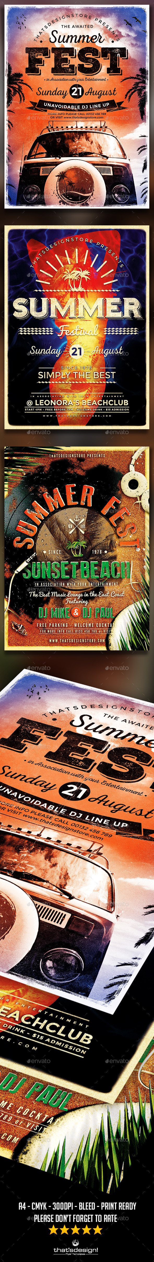 GraphicRiver Summer Fest Flyer Bundle 11848666