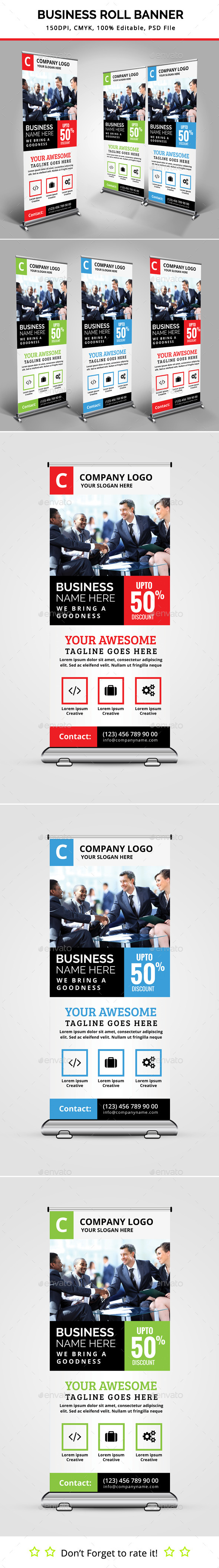 GraphicRiver Business Roll Up Banner V11 11848684