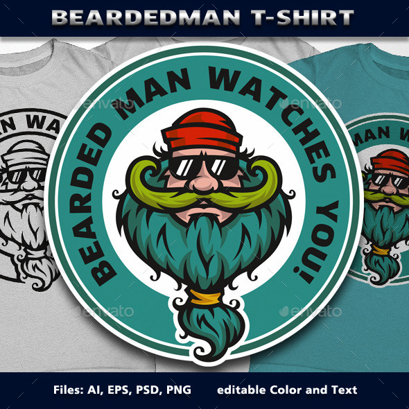 GraphicRiver BeardedMan T-Shirt 11848698