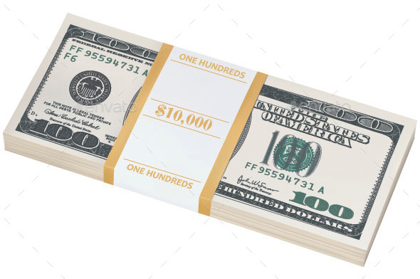 GraphicRiver Dollar Stack 11848711