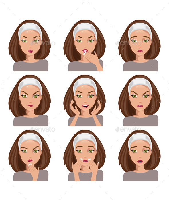 GraphicRiver Collection of Emotions 11848764