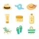 Sun Creams and Beach Accessories - GraphicRiver Item for Sale