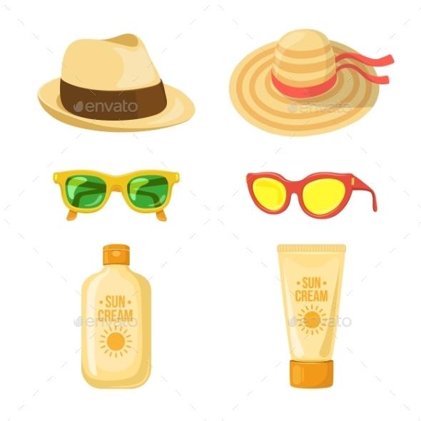 GraphicRiver Sun Balm Glasses and Hats 11849055