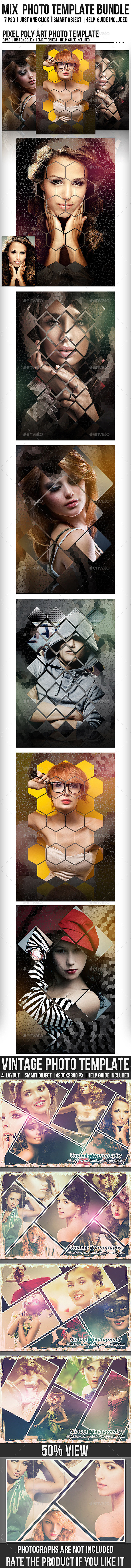 GraphicRiver Mix Photo Template Bundle 11849495