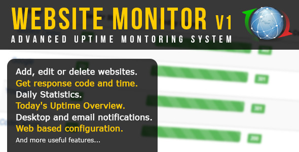 CodeCanyon Advanced Website Uptime Monitor 11809914