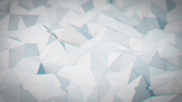 Glitch Low Poly Background