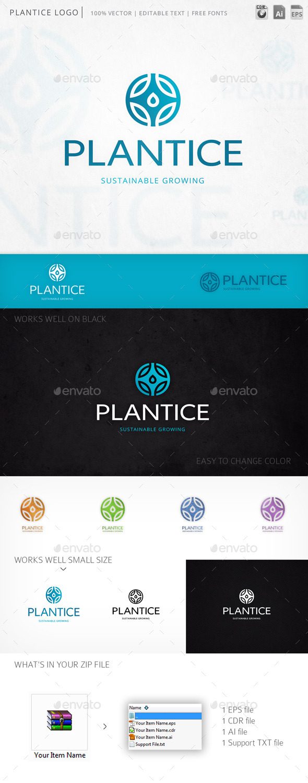 GraphicRiver Plantice Logo 11849721