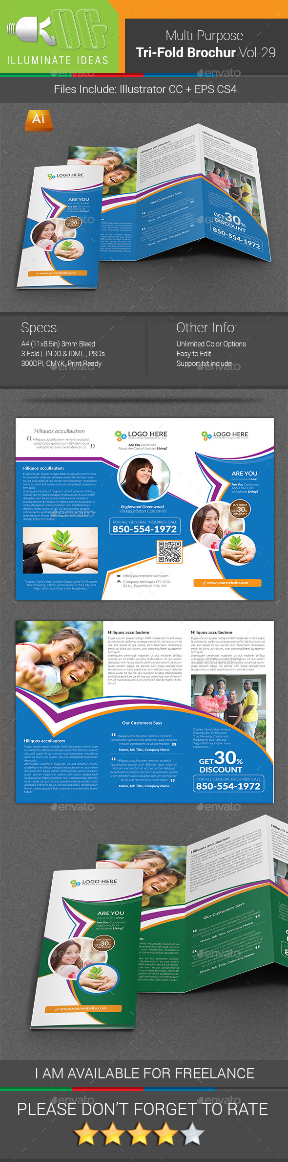 GraphicRiver Multipurpose Business Tri-Fold Brochure Vol-29 11849817