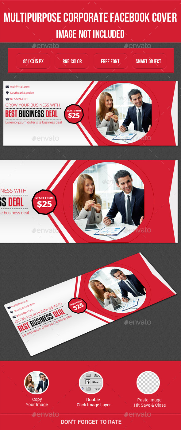 GraphicRiver Multipurpose Corporate Facebook Cover 11849970