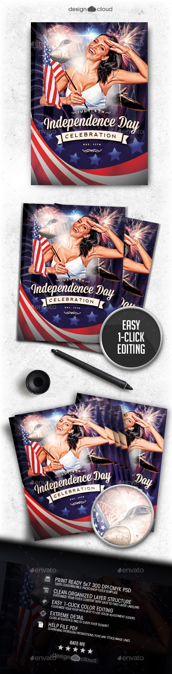 GraphicRiver Independence Day July 4 Vol 3 Flyer Template 11850127