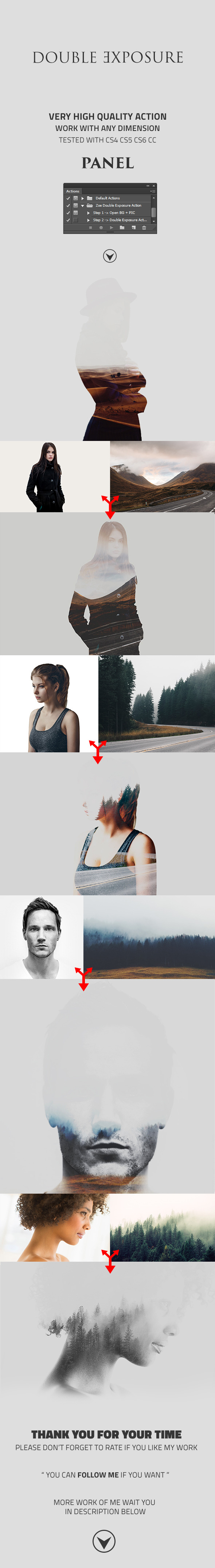 GraphicRiver Zoe Double Exposure Action 11850176