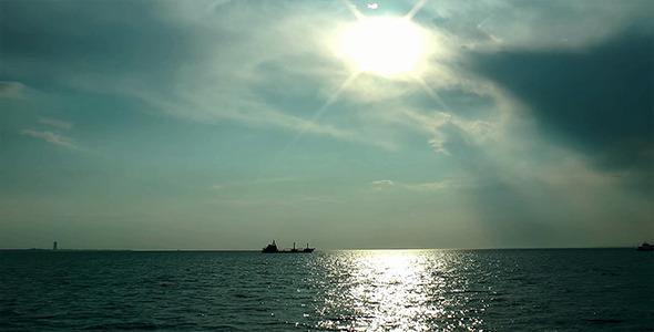 Cargo Ship at the Sea 2
