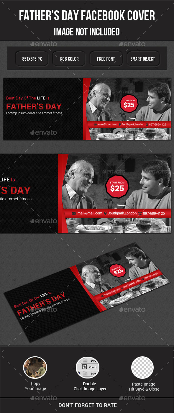 GraphicRiver Father s Day Facebook 11850216