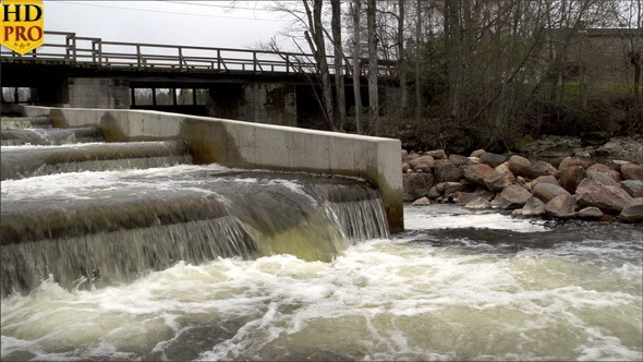 VideoHive A Fish Ladder with Rushing Water 11850259