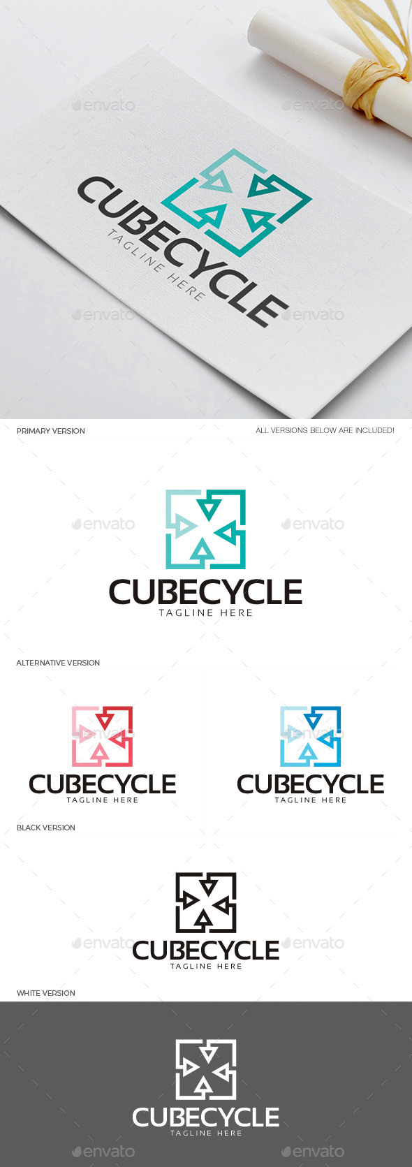 GraphicRiver Cube Cycle Logo 11850580