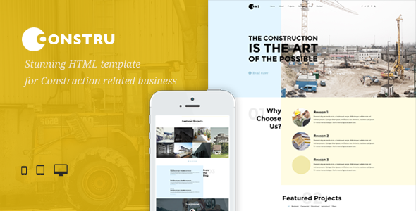 ThemeForest Constru Build & Construction HTML Template 11850772