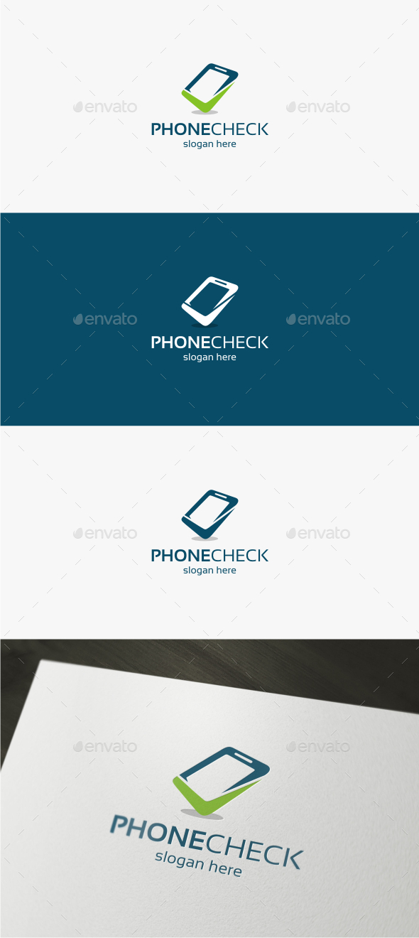GraphicRiver Phone Check Logo Template 11851286