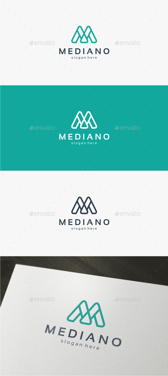 GraphicRiver Mediano Letter M Logo Template 11851311