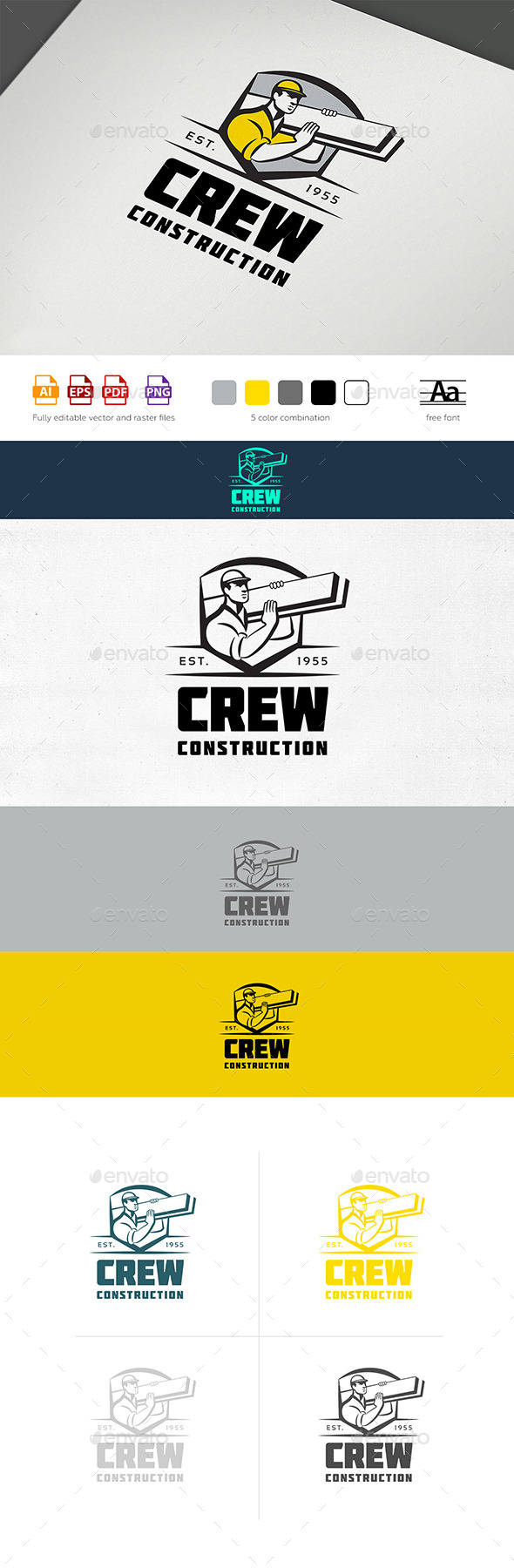 GraphicRiver Construction Crew Logo 11851315