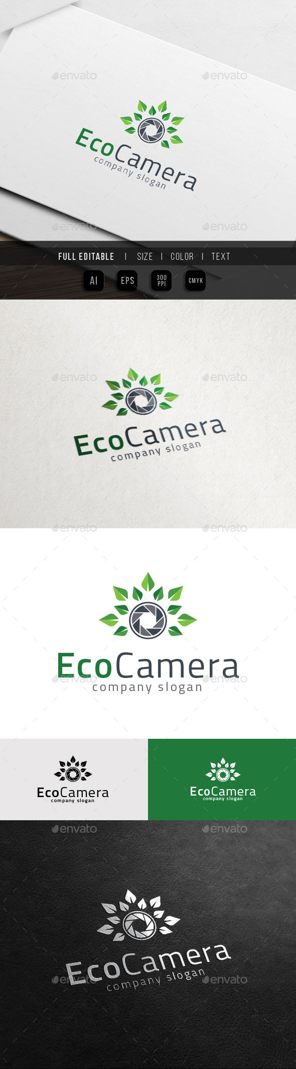 GraphicRiver Eco Photography Green Leaf Camera 11851704