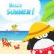 Summer Penguin Card - GraphicRiver Item for Sale