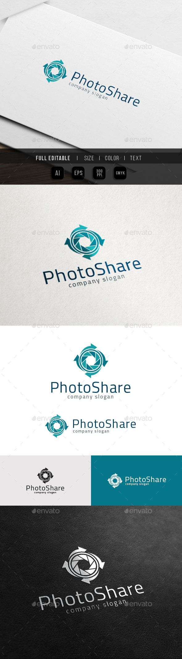GraphicRiver Photography Sharing Camera Reload Logo 11851721