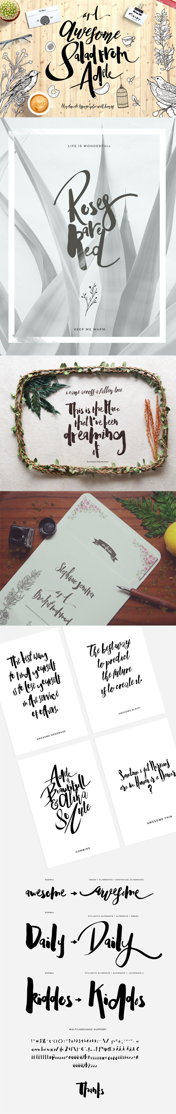GraphicRiver Adele Cute Typeface 11851724