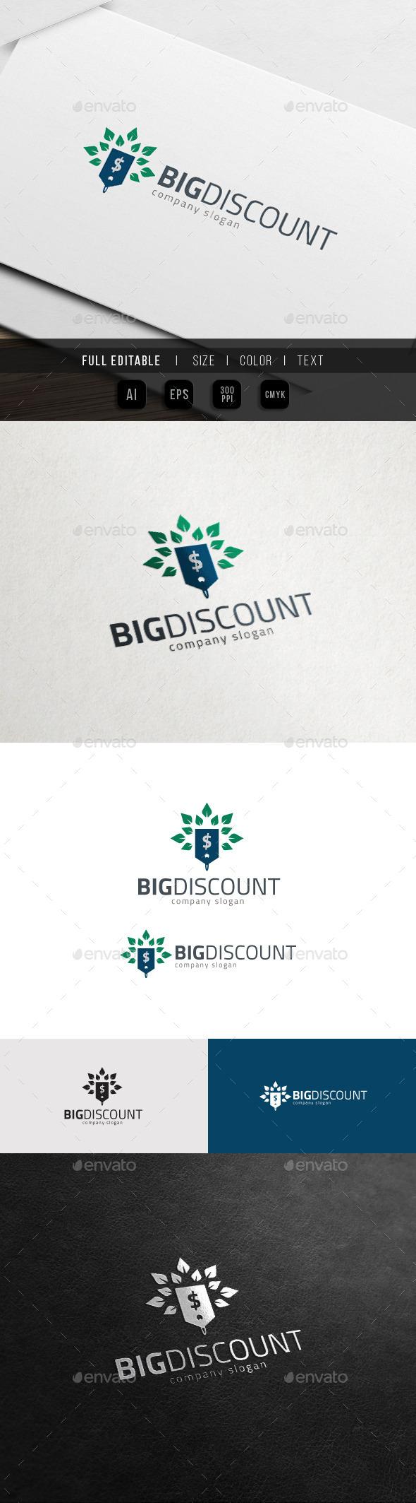 GraphicRiver Big Discount Big Sales Logo 11851770