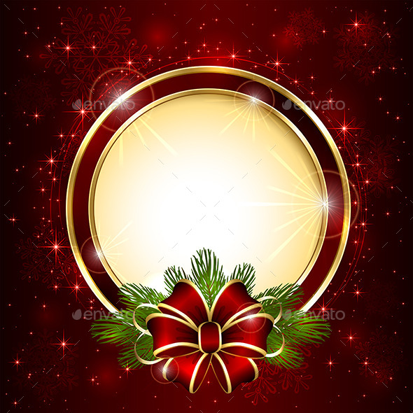 GraphicRiver Christmas Decoration on Red Background 11851789