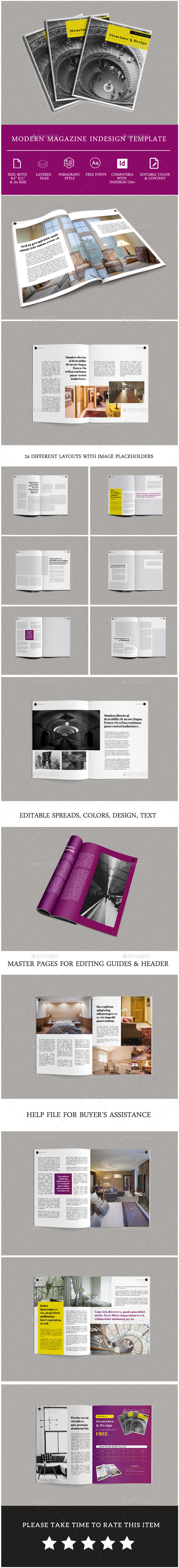 GraphicRiver Minimal Modern Magazine Template 11851865