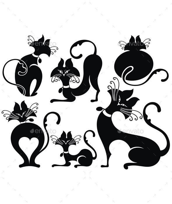 GraphicRiver Black Cats 11852487