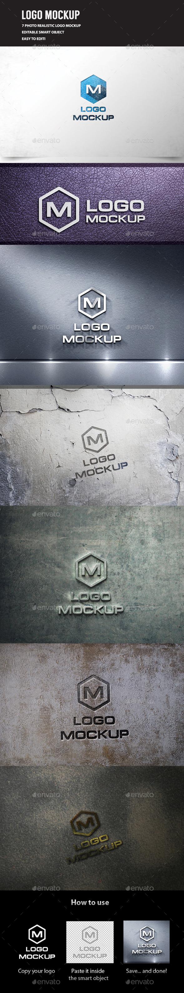 GraphicRiver 3D Logo Mockup Vol.3 11852975