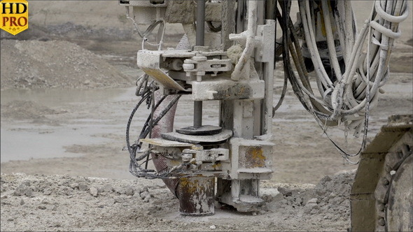 A Rock Driller Machine