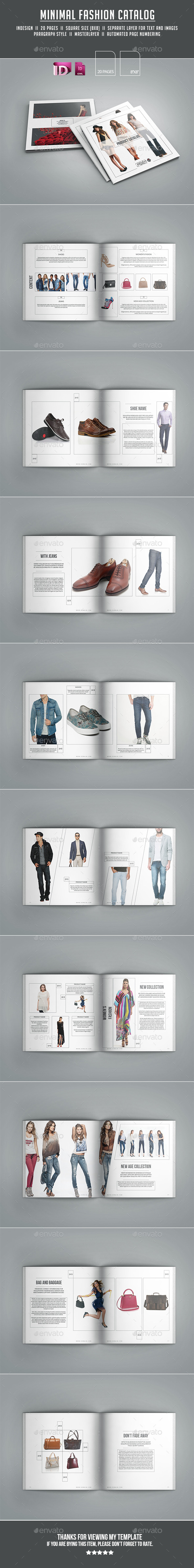 GraphicRiver Minimal Fashion Catalog 11854117