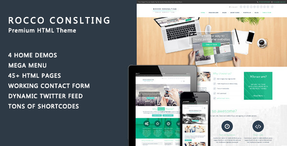 ThemeForest Rocco Flat HTML Template 11789603