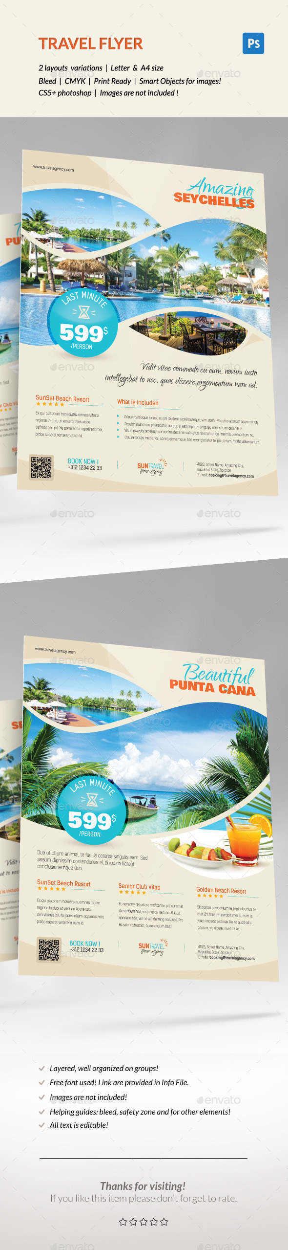GraphicRiver Travel Holiday Flyer 11854321