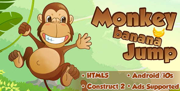 CodeCanyon Monkey Banana Jump HTML5 Android CAPX 11854424