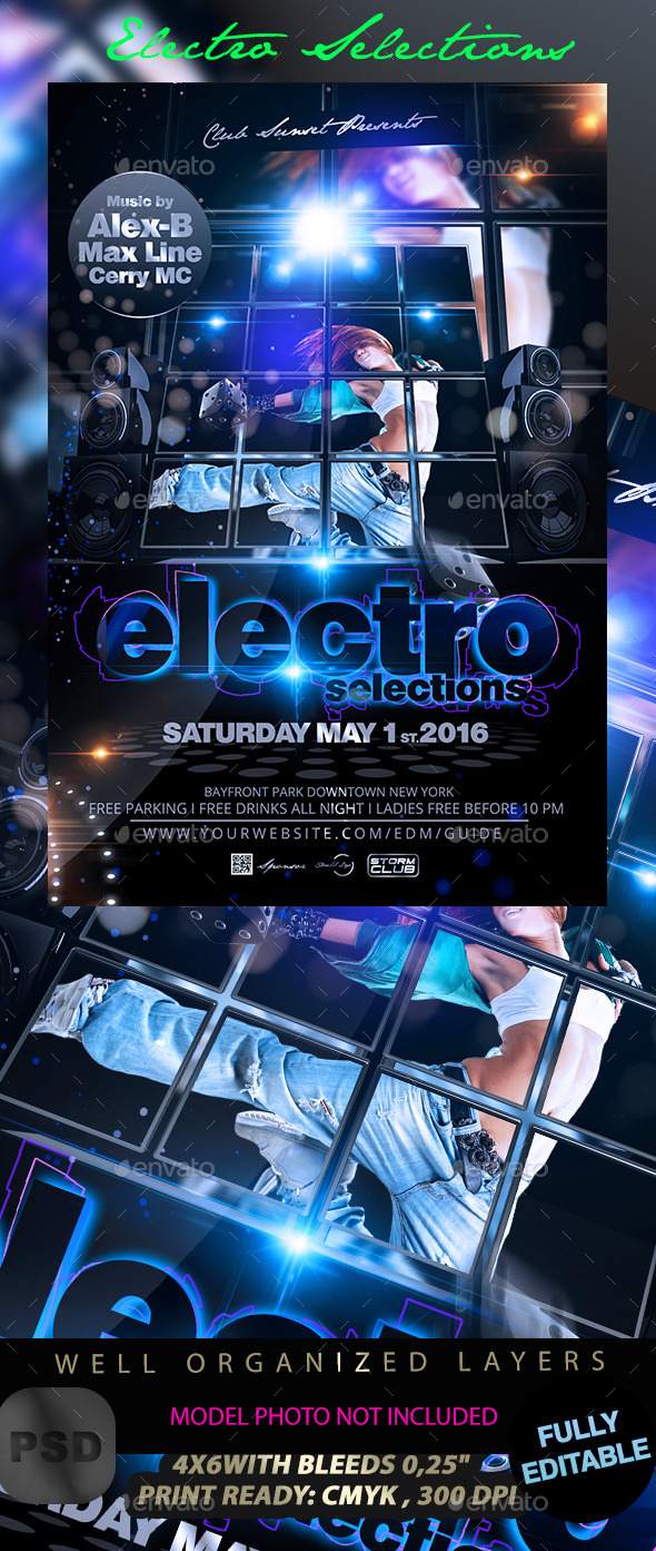 GraphicRiver Electro Selections Flyer 11854728
