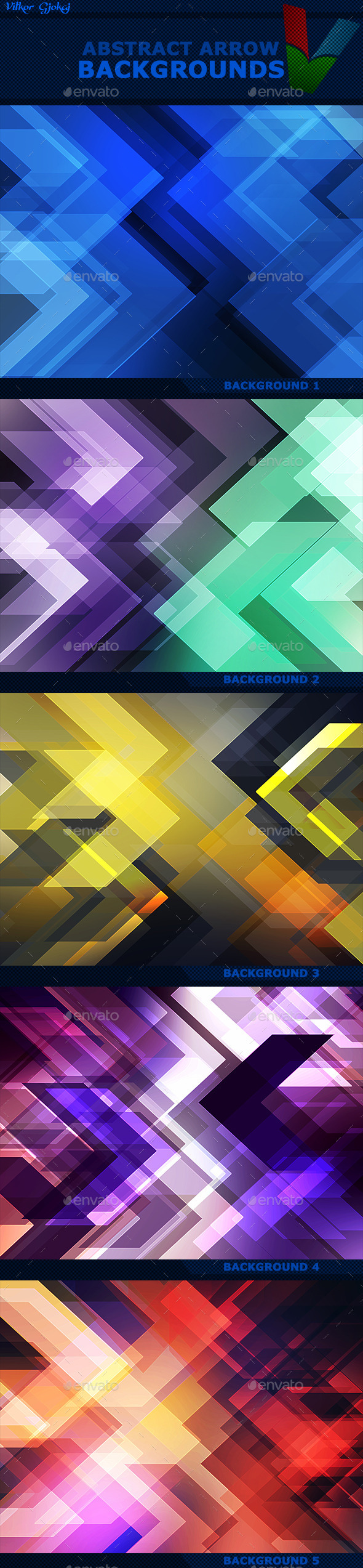 GraphicRiver Abstract Arrow Backgrounds 11854729