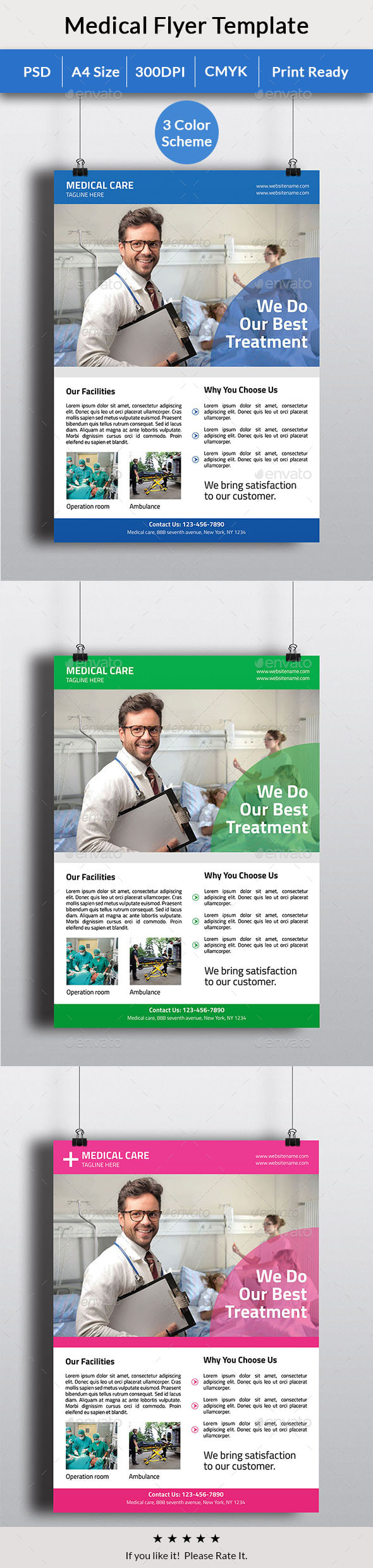 GraphicRiver Medical Care Flyer 11854813