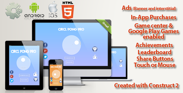 CodeCanyon Circle Pong Pro Multi Platform Capx & design 11854998